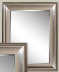 transitional brushed nickel wall mirror