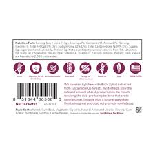 xylichew gum black licorice nutrition
