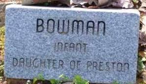 BOWMAN, INFANT DAUGHTER - Baxter County, Arkansas | INFANT DAUGHTER BOWMAN  - Arkansas Gravestone Photos