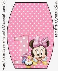 Minnie Primer Ano Con Lunares Etiquetas Para Candy Bar Para