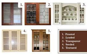 kitchen cabinet door glass types