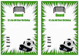 Free Soccer Birthday Invitation Cards Invitaciones De Fiesta De