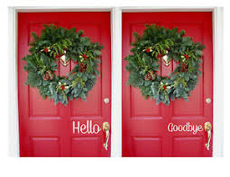 Hello Goodbye Vinyl Door Decals Greeting Stickers Home Ebay