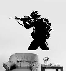 Vinyl Sticker Military Tank Weapon Army Artillery Mural Decal Wall Decor Hi301