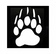 Bear Paw Vinyl Window Decal Stickers Seven Saturdays Motor Sports