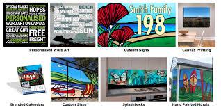 Personalised Word Art Signs Calendars And Splashbacks Custom Art By Sarah C