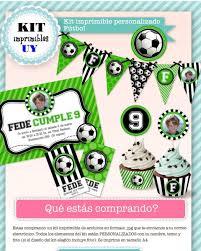 Kit Imprimible Futbol Candybar Invitacion Personalizada 402 09
