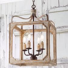 boho rustic cube chandelier small