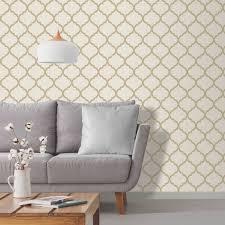 crystal trellis gold wallpaper diy