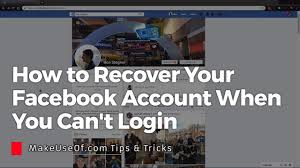 How to Recover Your Facebook Account When You Can't Login - YouTube