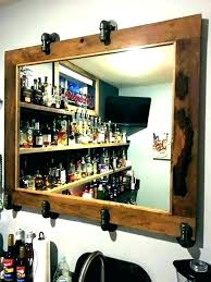 back bar mirrors with shelves