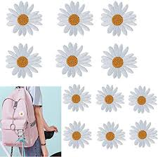 Amazon Com 12pcs Daisy Embroidery Patch Flowers Floral Patches Embroidered Iron On Applique Patch Repair Stickers Fabric Decals For Hoodies Shoes T Shirt Backpack Bags Diy Crafts 2 Style Arts Crafts Sewing