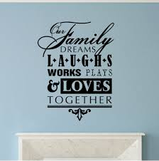 Winston Porter Our Family Dreams Laughs Works Plays Loves Vinyl Letters Words Wall Decal Wayfair