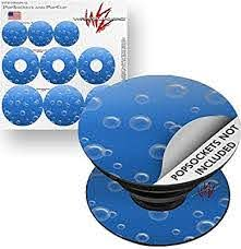 Amazon Com Decal Style Vinyl Skin Wrap 3 Pack For Popsockets Bubbles Blue Popsocket Not Included Everything Else