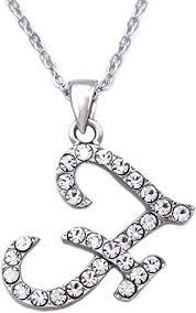 initial letter f pendant necklace women