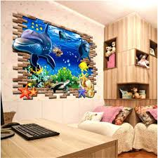 3d Ocean Dolphins Removable Wall Sticker Vinyl Decal Kids Room Decor Home Mural 9780674249158 Ebay