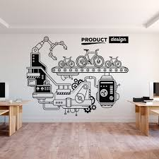 Removeable Office Decor Art Wall Decal Office Product Design Vinyl Wall Sticker Study Room Decoration Diy Mural Decals Y74 Wall Stickers Aliexpress