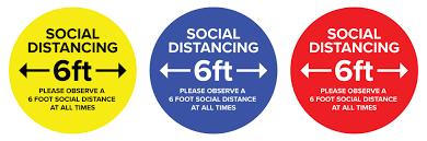 Social Distance Vinyl Decal Non Slip Self Adhesive Sticker