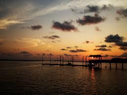 صورة عالية الدقة خالية من غروب الشمس فلوريدا الغيوم المياه البحر الصيد السماء الأفق Afterg