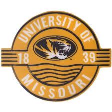 The Mizzou Store University Of Missouri Tigers 1839 Gold Circle Sticker
