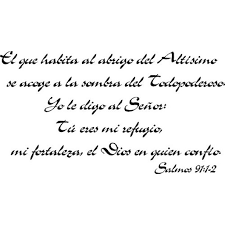 Salmos 91 1 2 Spanish Bible Verse Vinyl Wall Decal By Scripture Wall Art 11 X22 Black Christian Psalms Biblia Walmart Com Walmart Com