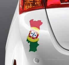 Portugal Map And Flag Car Sticker Tenstickers