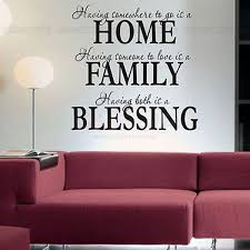 home family blessing quotes wall sticker