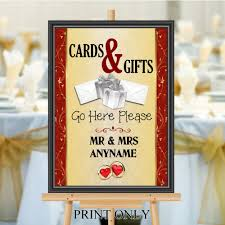 personalised wedding cards gifts sign