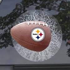 Pittsburgh Steelers Nfl Sportz Splatz Football Cracked Window Decal Steel City Collectibles