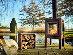 Wood Burning Outdoor Freestanding Corten Fireplace Quaruba Xl By Rb73