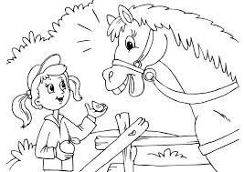 Kleurplaat Meisje Met Paard Muziekmoment