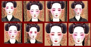mod the sims 10 anese geisha faces