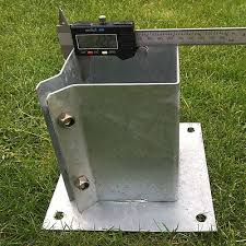 Galvanised Bolt Down Fence Post Support Anchor Post Holder Like Metpost 8 99 Picclick Uk