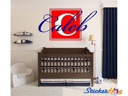 Boys Block Letter Name Monogram Nursery Room Vinyl Wall Decal Graphics