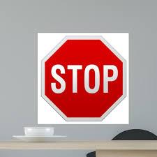 Stop Sign Wall Decal Wallmonkeys Com