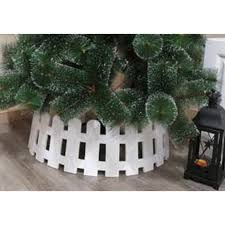 68 X 22cm Pure White Picket Fence Pvc Tree Collar Large Trans Continental Group Ltd