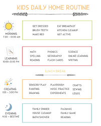 flexible daily schedule for kids