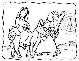 Naar Bethlehem Kleurplaten Kerstmis Kleurplaten En Peuter Kerst