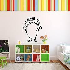 Amazon Com Dr Seuss Lorax Wall Decal Vinyl Wall Art Childrens Book Character For Kids Room Nursery Playroom Black White Red Yellow Blue Pink Other Colors Small Large Sizes Handmade