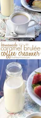 homemade caramel brulée coffee creamer