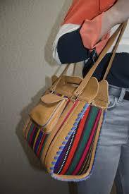 afghan leather shoulder bag brown