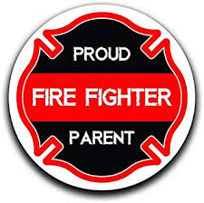 Amazon Com More Shiz Proud Parent Of A Fire Fighter Decal Sticker Car Truck Van Bumper Window Laptop Cup Wall Two 5 Inch Decals Mks0357 Automotive