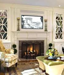 fireplace designs with tv above