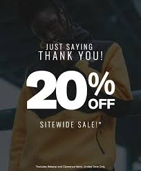 20 off sitewide just saying thank