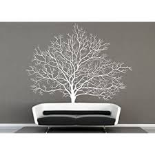 Amazon Com Large Winter Tree Wall Decals White Winter Tree Decals For Living Room Wall Decor Furniture Decor