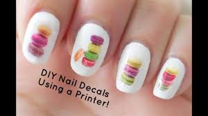 diy nail art decals using a printer