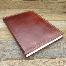 indiana a4 handmade refillable leather