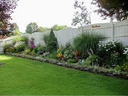 Landscaping Ideas Near Fence Home Yard Landscaping