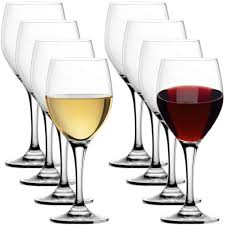 8 Stolzle Lead-Free Crystal 15oz Adela White Red Wine Glasses Port Germany  for sale online