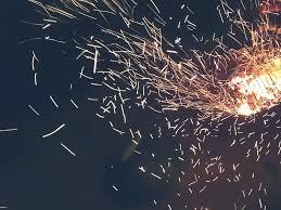 wallpaper spark burning shine night